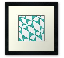 White Turquoise Pedals Framed Print