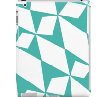 White Turquoise Pedals iPad Case/Skin