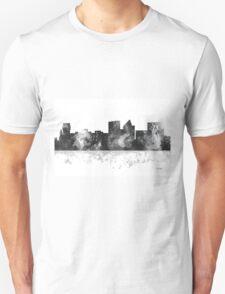 Witchita, Kansas Skyline - B&W T-Shirt