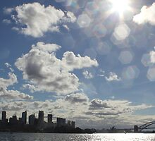 Sydney Sun Flare by Kara Graphic Design