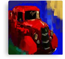 The old red truck Canvas Print