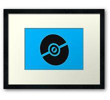 Pokemon Pokeball Flying Framed Print