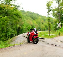 VFR800 on the tracks by Jimmy Phillips