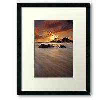 Nobbys Fire Morning Framed Print