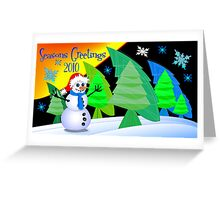Wonky Christmas Trees 2 Greeting Card