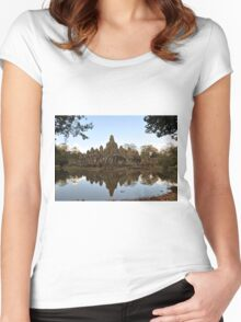 Temple Reflection Women's Fitted Scoop T-Shirt