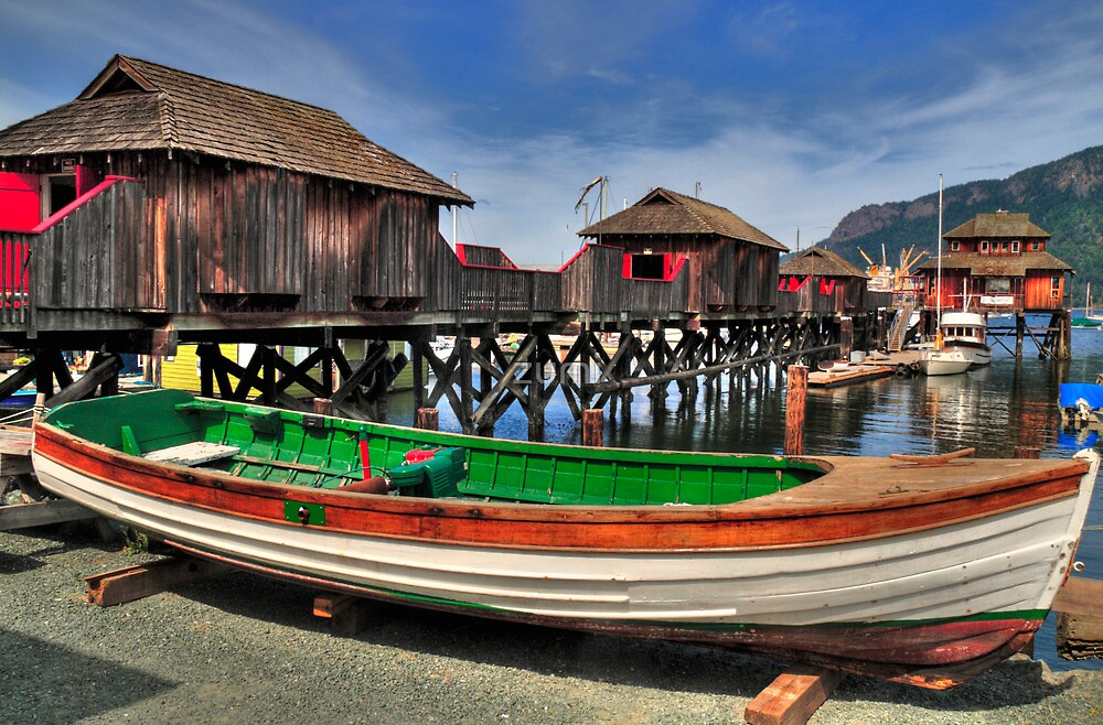 Wooden boats and cabins by zumi