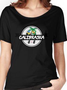 Calibraska Black Logo Women's Relaxed Fit T-Shirt