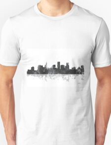 St Paul, Minnesota Skyline - B&W T-Shirt