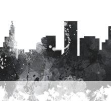 St Paul, Minnesota Skyline - B&W Sticker