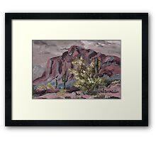 A Desert Scene, too - oil paint Framed Print