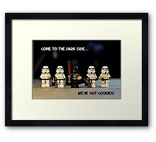 Dark Side Cookies Framed Print