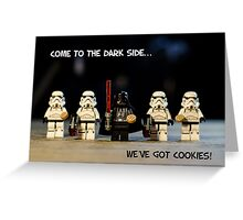 Dark Side Cookies Greeting Card