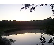 Sunset on Albritton's Pond Photographic Print