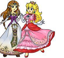 Zelda X Peach by Cirtolthioel