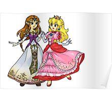 Zelda X Peach Poster