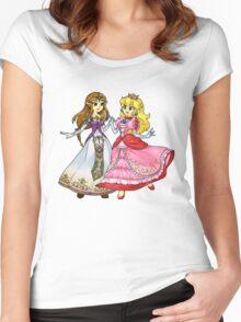 Zelda X Peach Women's Fitted Scoop T-Shirt
