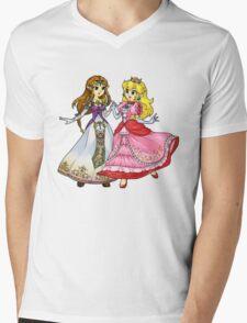 Zelda X Peach Mens V-Neck T-Shirt