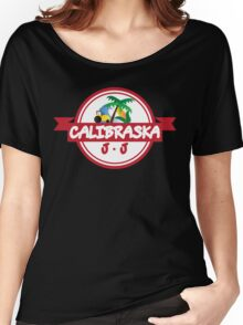 Calibraska Red Logo Women's Relaxed Fit T-Shirt
