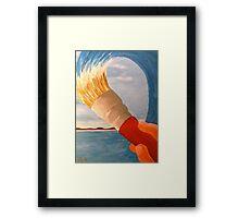 Brush n' Beach Framed Print