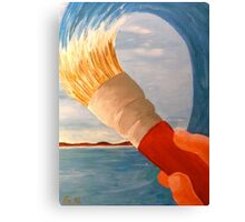 Brush n' Beach Canvas Print