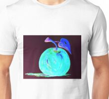 Abstract Blue And Teal Apple Unisex T-Shirt