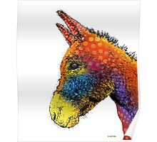 Colorful Donkey Poster