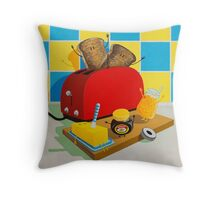 Toast! by Sophie Green Throw Pillow