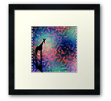 Geometric Giraffe Current Trend Bright  Framed Print