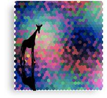 Geometric Giraffe Current Trend Bright  Canvas Print
