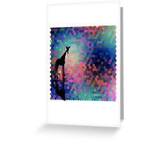Geometric Giraffe Current Trend Bright  Greeting Card