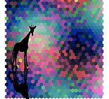Geometric Giraffe Current Trend Bright  Photographic Print