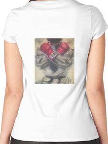 "airbrush ""Ryu"" Artwork Women's Fitted Scoop T-Shirt"