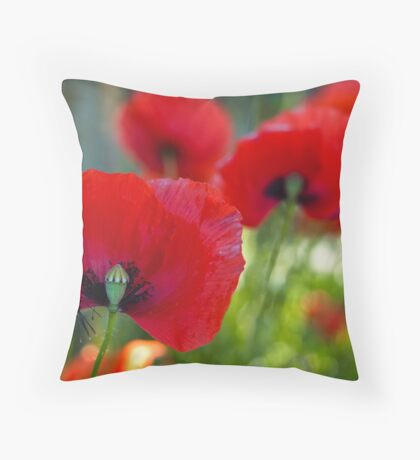 Red all over the Place Throw Pillow