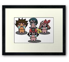 The Binding Of Isaac/Pokémon Crossover - Hoenn Group Framed Print