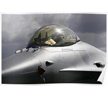 F-16 Cockpit Poster