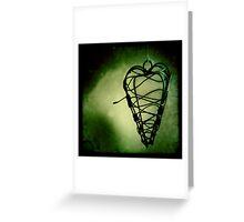 Hanging heart Greeting Card
