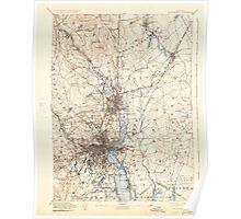 Massachusetts  USGS Historical Topo Map MA Providence 352976 1894 62500 Poster