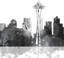 Seattle, Washington Skyline - B&W Sticker