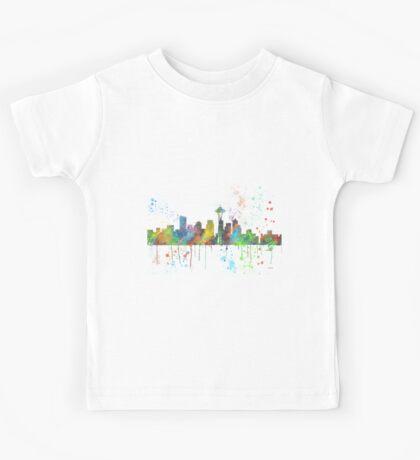 Seattle, Washington Skyline Kids Tee
