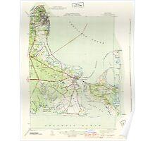 Massachusetts  USGS Historical Topo Map MA Edgartown 351665 1944 31680 Poster