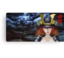 Pin Up Samurai Canvas Print