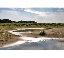 Small dune lakes Photographic Print