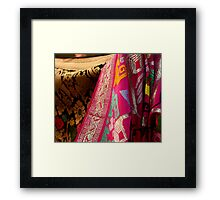 Traditional Woven Framed Print