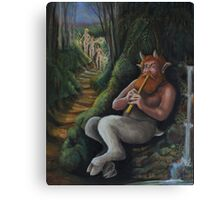 Satyr calling the Nymphs (finished) Canvas Print