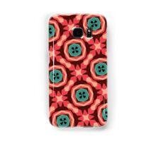 Geometric Pattern Coral Teal Button  Samsung Galaxy Case/Skin