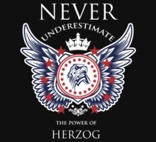 Never Underestimate The Power Of Herzog - Tshirts & Accessories by tshirts2015