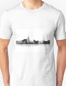 Santa Fe, New Mexico Skyline - B&W T-Shirt