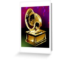 Beauty of the golden gramophone  Greeting Card