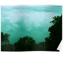 blue storm clouds Poster